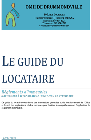 Page couverture du guide